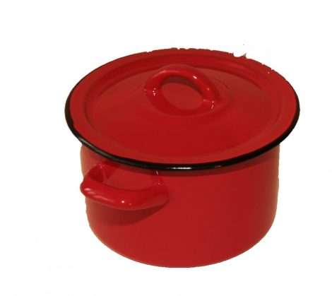 Emaille Topf 16 cm  2 L Rot