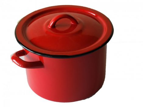 Emaille Topf 18 cm - 3 L Rot