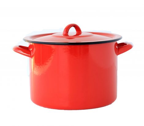 Emaille Topf  22 cm 5,5 L Rot