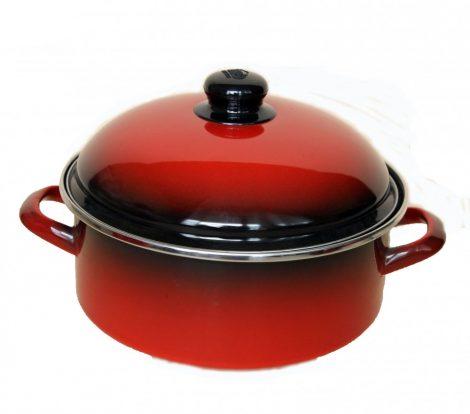 Emaille Topf  24 cm  3,75 L Rot Schwarz