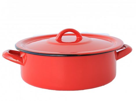 Emaille Topf  22 cm  2,75 L Rot