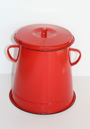 Emaille Schmalztopf, 5 L, Rot