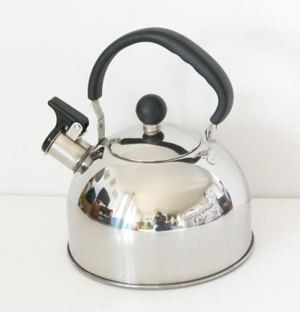 Edelstahl Teekessel, Pfeifkessel, 2 L, glanzend