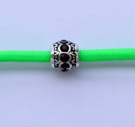 Tibetian Silver Rhinestone Spacer Bead - Purple - Sphere